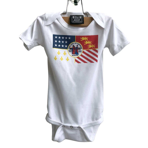 Detroit City Flag Baby Creeper, Infant One-Piece Romper