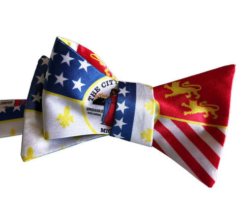 Detroit City Flag Bow Tie, Well Done Goods