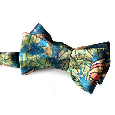 Fisher Building Mosaic Printed Bow Tie, by Cyberoptix