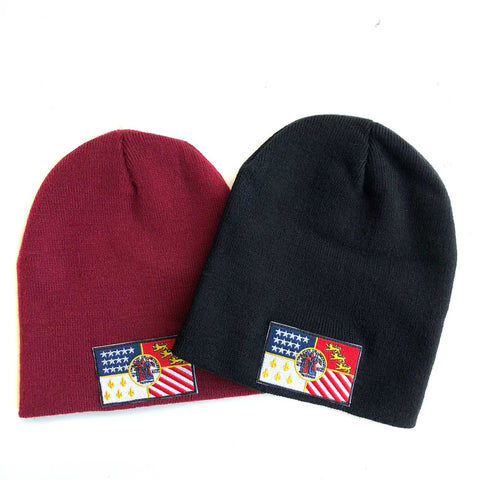 Detroit City Flag Skullcaps, Brimless Beanies