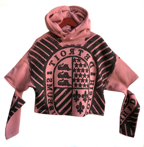 Detroit Historical Museum Manhole Cover Cut Out Sweatshirt, Mauve
