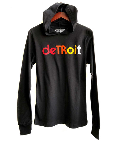 Detroit Rhythm Composer Hooded Jersey Long Sleeve Shirt. Well Done Goods