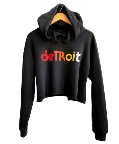 Detroit Rhythm Composer Black Cropped Pullover Hoodie, Well Done Goods