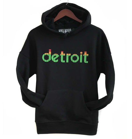 Peak Detroit, LED Audio Level Meter Pullover Hoodie, Unisex