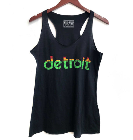 Peak Detroit, LED Audio Level Meter Women's Racerback Tank Top