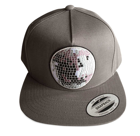 Disco Ball Snapback Cap, Well Done Goods by Cyberoptix