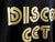 Disco Get Down T-Shirt detail, The Scene, Detroit. Gold on black. Well Done Goods