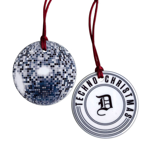 Detroit Techno Christmas, Ceramic Disco Ball Ornament. Well Done Goods