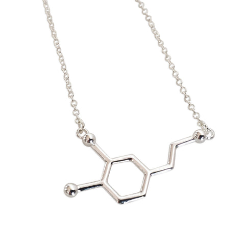 Dopamine Molecule Pendant Necklace, Well Done Goods