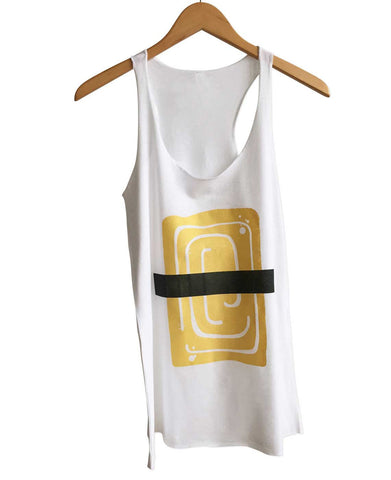 Egg Omelet Sushi Women's Tank Top, Tamago Nigiri Print. Well Done Goods