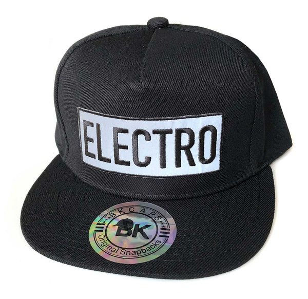 d90730c27 Electro Snapback Cap, Reflective Embroidered Patch