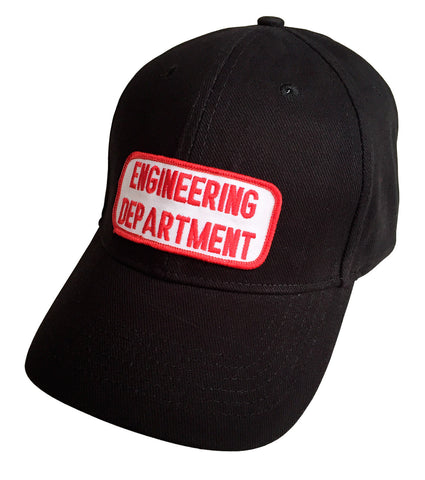 Engineering Department Black Dad Cap, Vintage Patch Hat, Well Done Goods