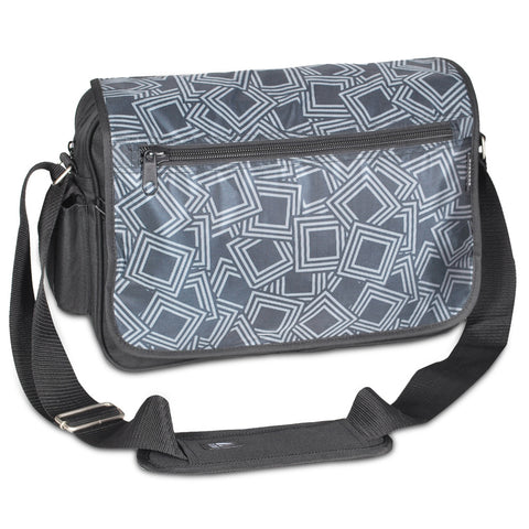 Geometric Nylon Messenger Bag, by Well Done Goods