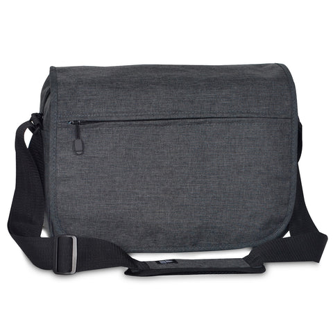 Charcoal Nylon Laptop Messenger Bag, Everest Bags