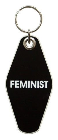 Feminist Motel Style Keychain, Well Done Goods