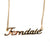 Ferndale Script Necklace, Gold Neighborhood Name Pendant, Well Done Goods