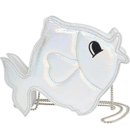 Fish Shaped Metallic Purse, 3D Handbag