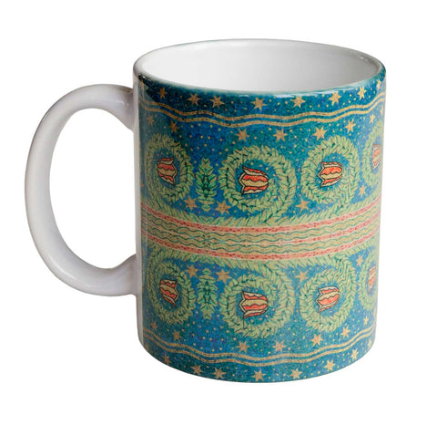 Fisher Building Mosaic Mug, Detroit Architectural Detail Coffee Cup