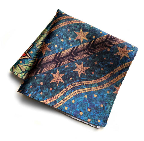 Fisher Building Mosaic Pocket Square, Cyberoptix
