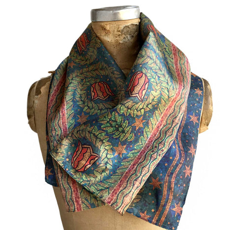 Fisher Building Mosaic Print Neck Scarf, Well Done Goods by Cyberoptix