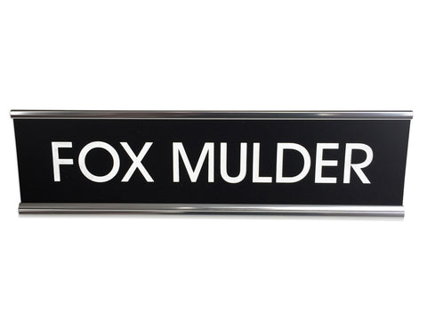 Fox Mulder Engraved Desk Nameplate, Well Done Goods