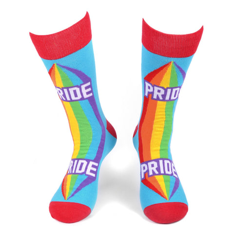Rainbow Pride Socks, Parquet Fancy Unisex Socks