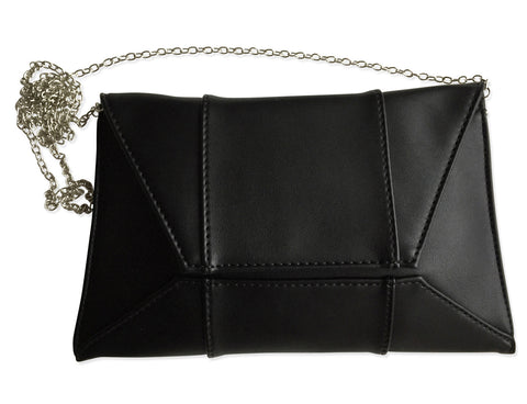 Geometric 3D Clutch Bag, Black Purse, Well Done Goods