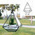 Pyramid Shape Hanging Geometric Glass Terrarium, Well Done Goods