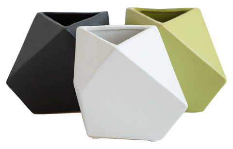 Prism Geometric Ceramic Vases, Well Done Goods