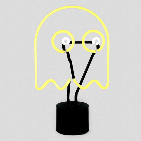 Yellow and white Ghost Neon Desk Lamp, Amped & Co., Well Done Goods