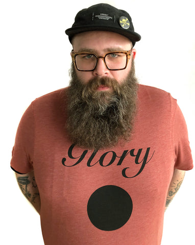 Glory Hole Print T-Shirt, heather clay.  Well Done Goods