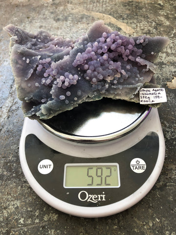 Grape Agate Specimens, Botryoidal Purple Chalcedony