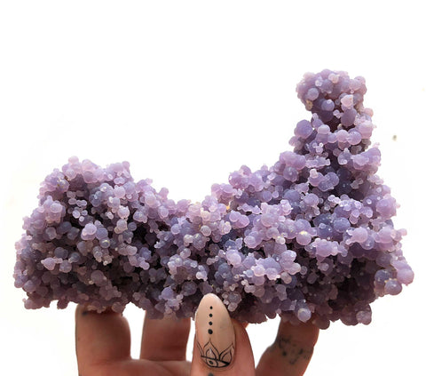Large Grape Agate Specimen, Museum Quality Botryoidal Purple Chalcedony