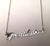 silver Great Lakes Script Nameplate Necklace, by Well Done Goods