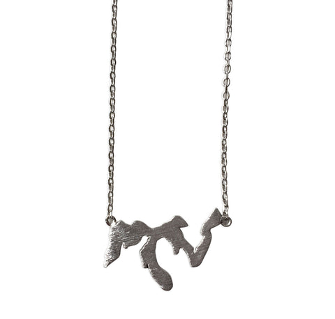 Great Lakes Necklace, Silver Delicate Necklace, by Well Done Goods