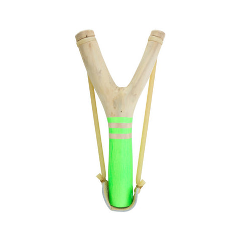 Neon Green Wood Slingshot & Ammo Gift Set, by Hella Slingshot