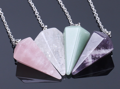 Crystal Pendulum Pyramid at Well Done Goods