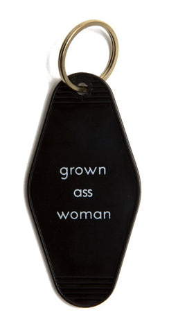 Grown Ass Woman, Motel Style Keychain, Well Done Goods