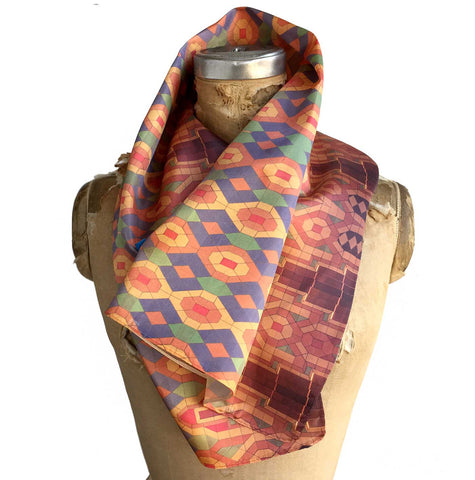 Guardian Building Ceiling Print Neck Scarf, by Cyberoptix