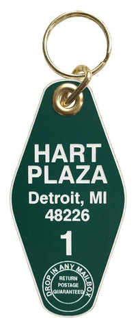 Hart Plaza, Room 1 Motel Style Keychain, Well Done Goods