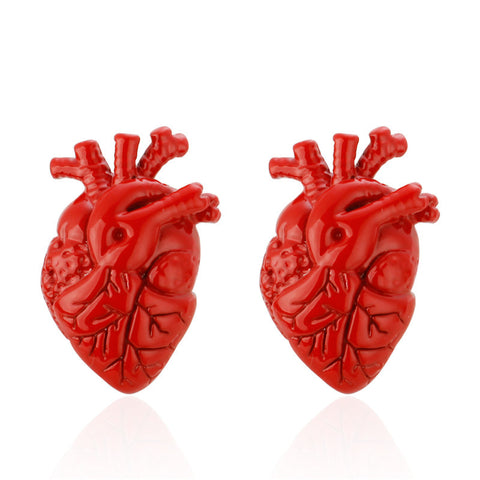Anatomical Heart Cufflinks, Well Done Goods
