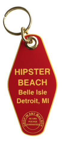Hipster Beach, Belle Isle Motel Style Keychain, Well Done Goods