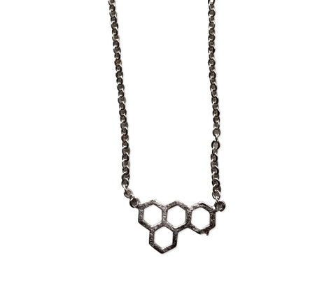 Honeycomb Pendant Necklace, by Well Done Goods