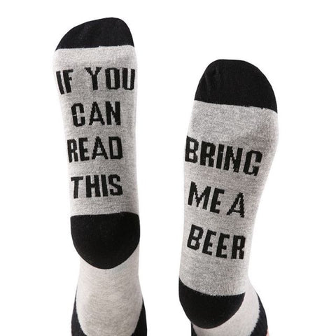 If You Can Read This, Bring Me a Beer Socks. Black/Grey
