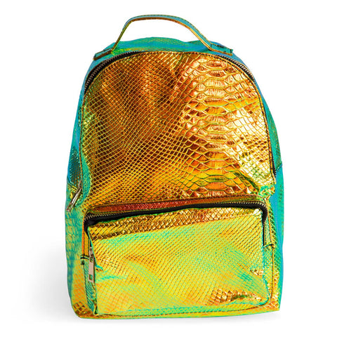 Iridescent Snake Print Mini Backpack, Well Done Goods