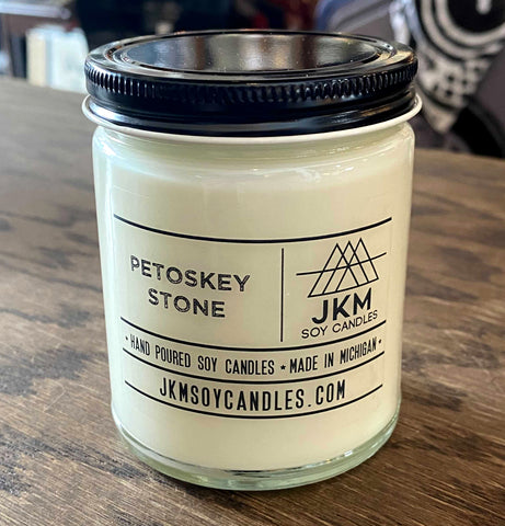 Petoskey Stone Candle: JKM Soy Candles - Large 9oz Size