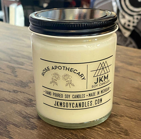 Schitt's Creek Candle: Rose Apothecary. JKM Soy Candles - Large 9oz Size