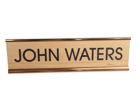 John Waters Engraved Plaque, Director's Desk Nameplate, Well Done Goods