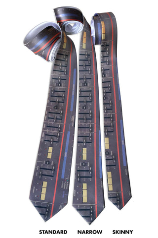 Roland Juno-106 Vintage Synth Neckties, Full Color Print, Cyberoptix