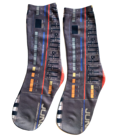 Juno-106 Synthesizer Socks, Well Done Goods